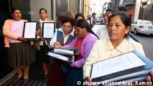 Peru Lima Kampagne gegen Zwangssterilisation