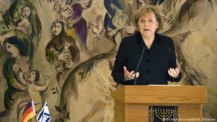 Nemačka kancelarka Angela Merkel tokom govora u Knesetu 2008.
