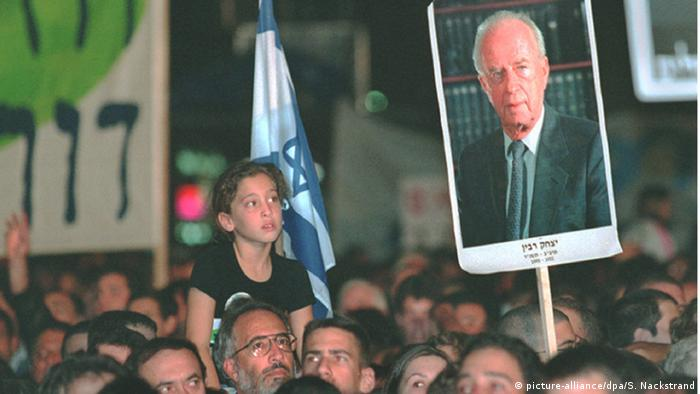 Every year Israelis commemorate Rabin's assassination in Tel Aviv