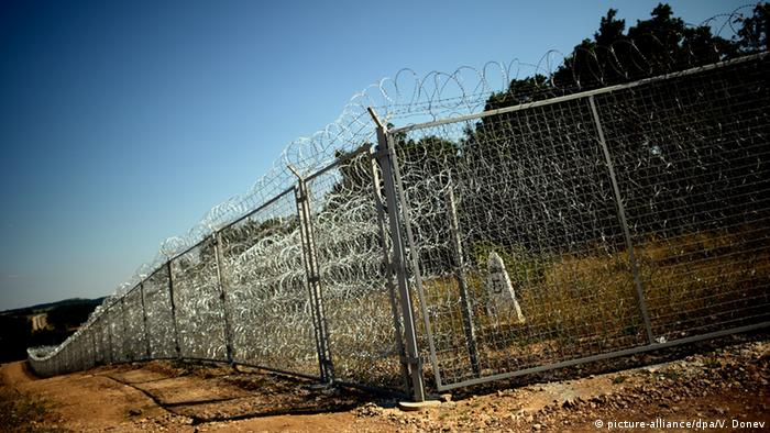 Barbed wire at Turkish-Bulgarian border
