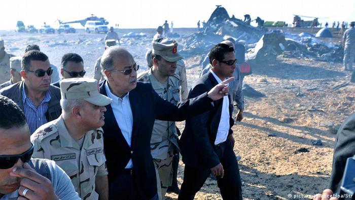 Airbus-Absturz über Ägypten Absturzstelle