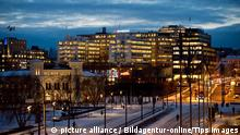 Europe, Norway, Oslo, modern architecture at Aker Brygge district