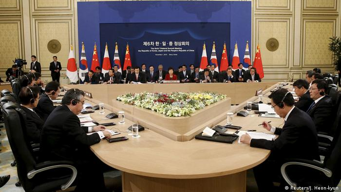 Südkorea Seoul Trilateraler Gipfel Japan China