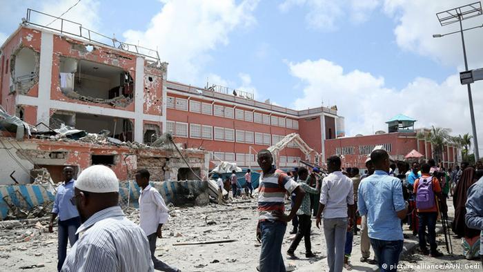 Somalia Mogadischu Anschlag auf Hotel