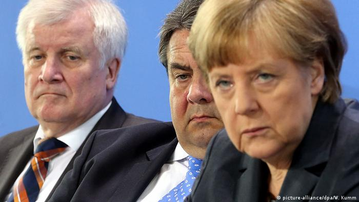 Berlin Bundeskanzleramt Seehofer Gabriel Merkel Koalition OVERLAY