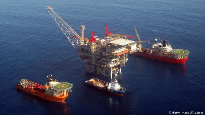 Offshore gas platform at Israel's Tamar field