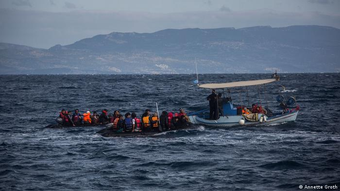 Griechenland Lesbos Flüchtlingsboote