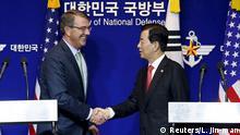 Südkorea Ash Carter und Han Min Koo