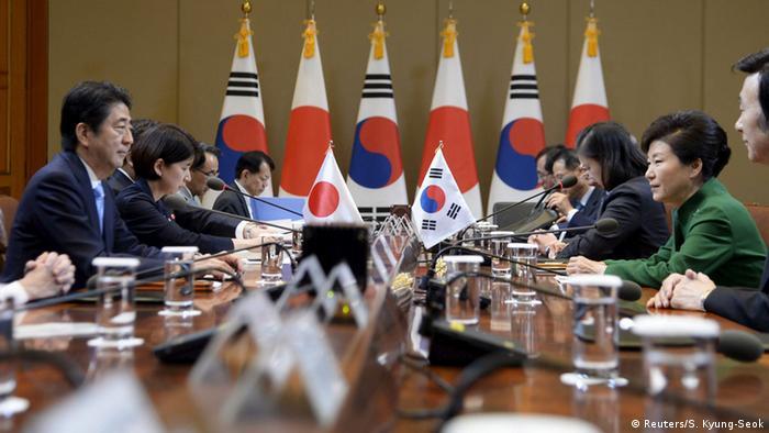Südkorea Treffen Shinzo Abe und Park Geun-hye Bilateraler Gipfel