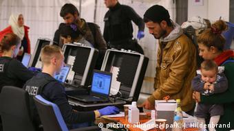 Регистрация беженцев в Германии