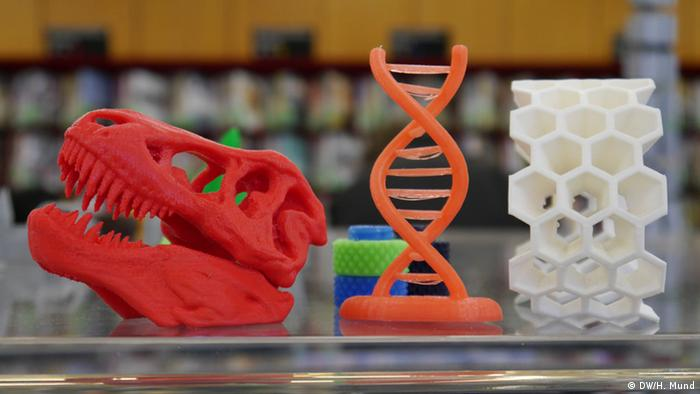 Items from a 3D printer, Copyright: Heike Mund /DW (2015)