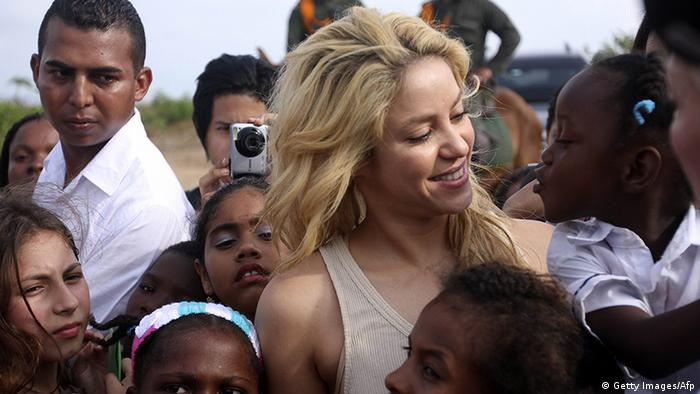Shakira in Cartagena de Indias (Getty Images/Afp)