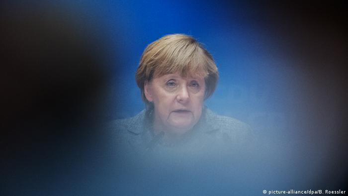 Deutschland Kanzlerin Angela Merkel in Darmstadt