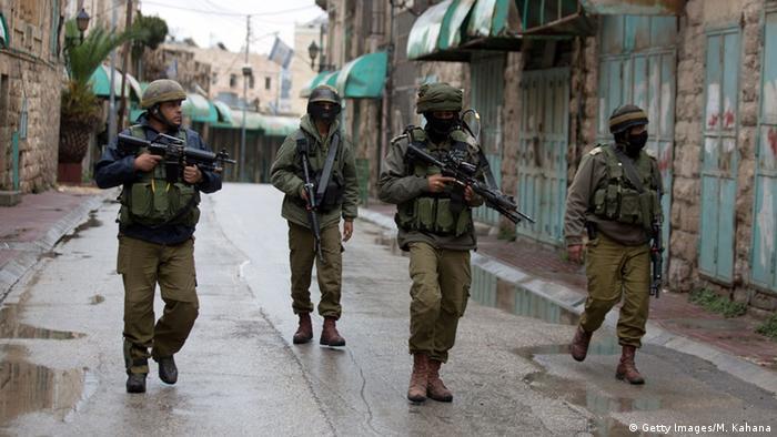 Westjordanland Israelische Soldaten in Hebron