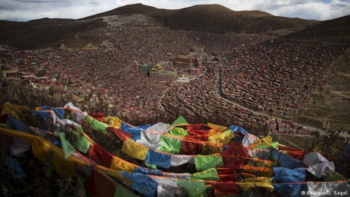 一名藏人僧侣在甘肃自焚
