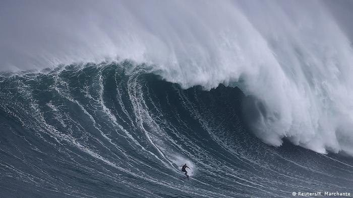 BdW Global Ideas Bild der Woche KW 45/2015 Portugal Surfer Welle (Reuters/R. Marchante)