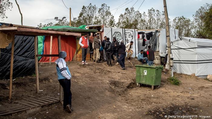 Frankreich Flüchtlingslager New Jungle in Calais