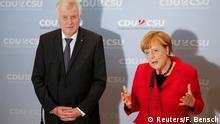 Deutschland Berlin Angela Merkel & Horst Seehofer