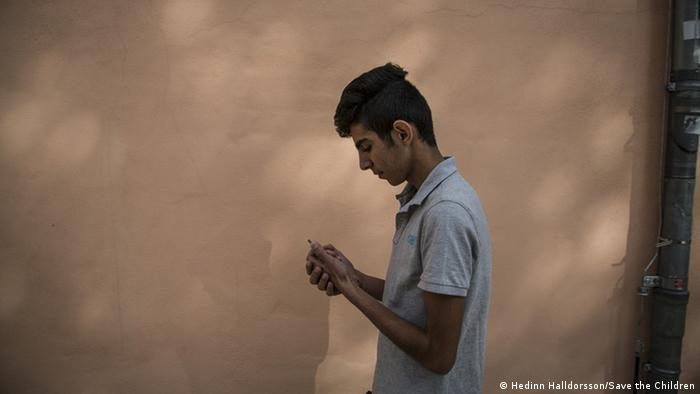 Walid 17 Jahre traumatisiert Save the Children (Foto: Hedinn Halldorsson/Save the Children)