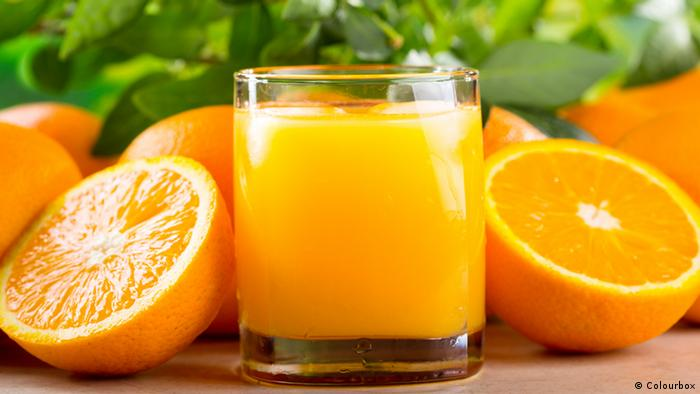 Orangensaft Orangen Glas (Colourbox)