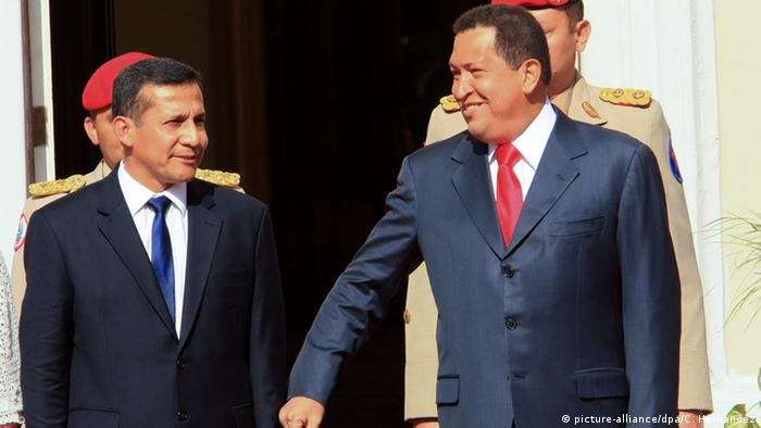 Venezuela Ollanta Humala & Hugo Chavez