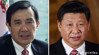 Taiwanischer Präsident Ma Ying Jeou und chinesischer Präsident Xi Jinping