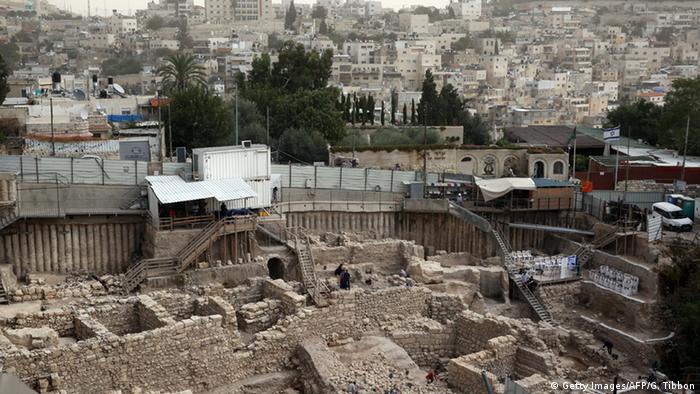 Acra fortress, excavation site Jerusalem, Copyright: Getty Images/AFP/G. Tibbon