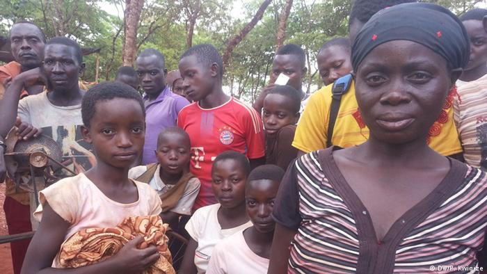 Refugees in Nyarugusu camp, Tanzania