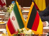 Флаги Ирана и Германии
