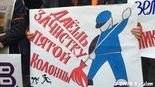 Demonstration Moskau Nationalistentag Russland
