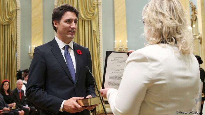 Justin Trudeau is sworn-in as Canada's 23rd prime Minister
