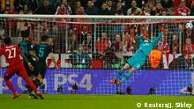 UEFA Champions League Bayern München vs Arseal Tor