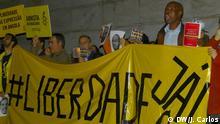 04.11.2015+++ Protest in Lissabon am 04.11.2015 für die Freilassung von angolanischen Aktivisten. +++ Copyright: DW/J. Carlos