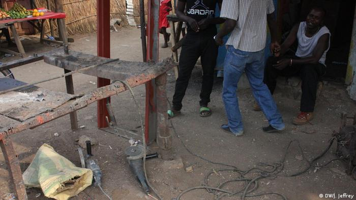 A welding workshop in Zambia