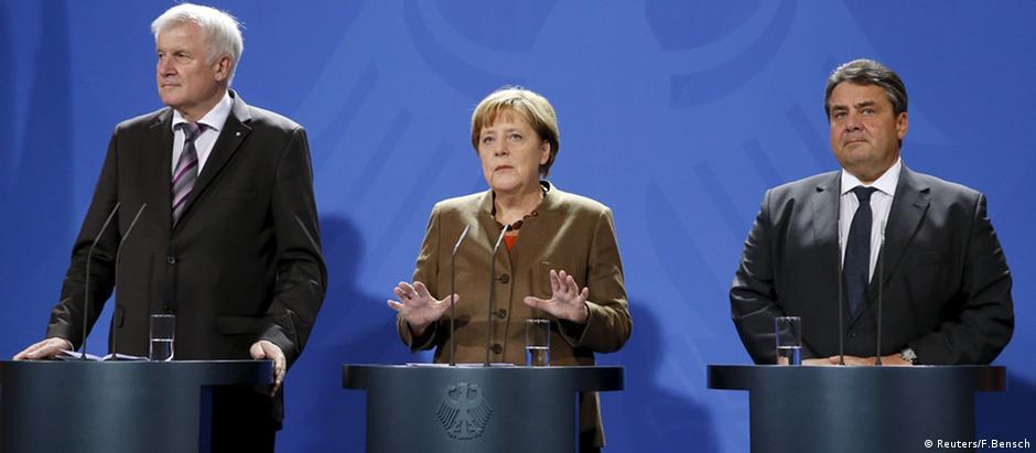 Seehofer, Merkel e Gabriel chegam a acordo sobre crise migratória
