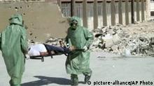 Aleppo Syrien Chemiewaffen Videostill 2013 Übung Trainingsvideo