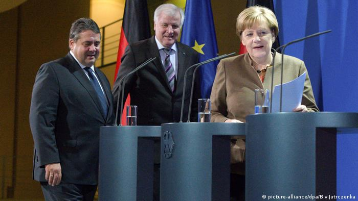 PK Flüchtlinge Transitzone Angela Merkel Horst Seehofer Sigmar Gabriel