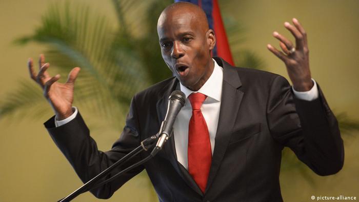 Jovenel Moise von der haitianischen Tet Kale Partei (Foto: Xinhua) (picture-alliance)