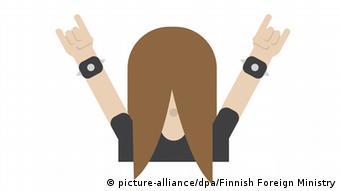 Finnland Emojis Sauna Mann Frau Handy Nokia Heavy Metal Headbanging