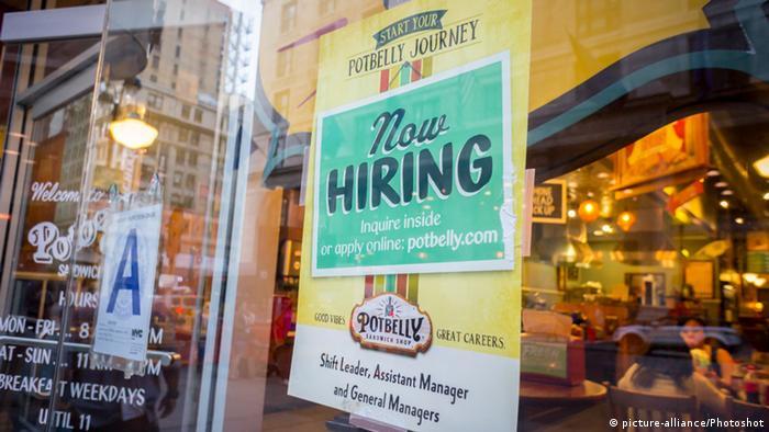 USA Arbeitsmarkt boomt