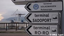Portugal Setubal Hafen VW Export Schilder