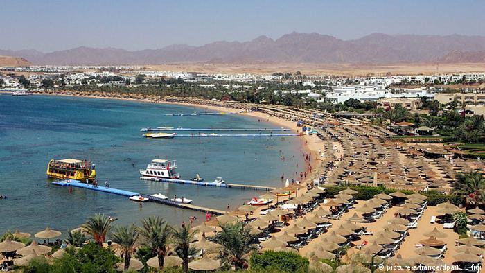 Ägypten Scharm El-Sheikh Touristen Strand