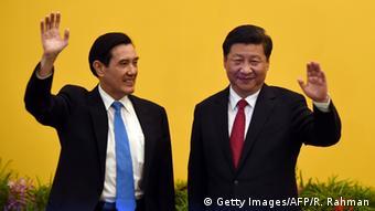 Taiwan Singapur Treffen Ma Ying-jeou und Xi Jinping (Getty Images/AFP/R. Rahman)