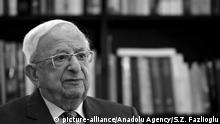 ARCHIV 2013 *** Israel's former president Yitzhak Navon in Jerusalem, Israel, on July 15, 2013. Salih Zeki Fazlioglu / Anadolu Agency Keine Weitergabe an Drittverwerter. picture-alliance/Anadolu Agency/S.Z. Fazlioglu