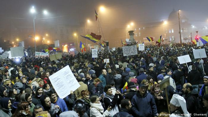 Rumänien Proteste in Bukarest