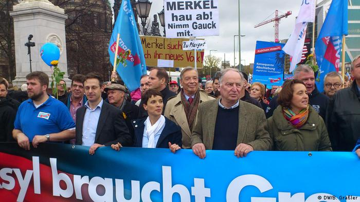 Demonstration AfD (DW/B. Gräßler)