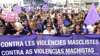 Protest gegen Gewalt an Frauen in Spanien