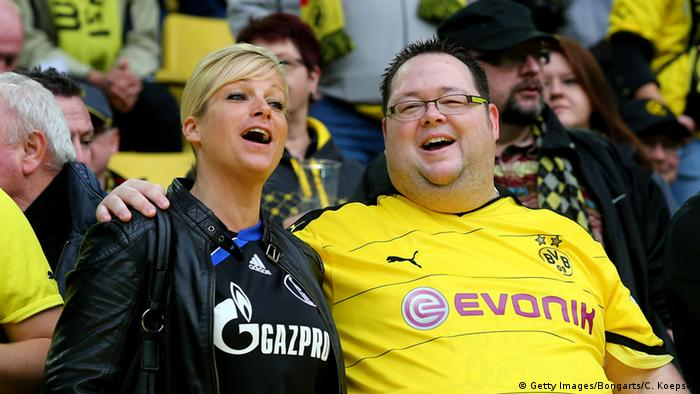Football fans singing