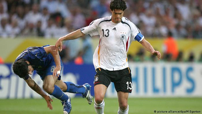 FIFA WM 2006 Michael Ballack Gennaro Gattuso (picture-alliance/dpa/M.Egerton)