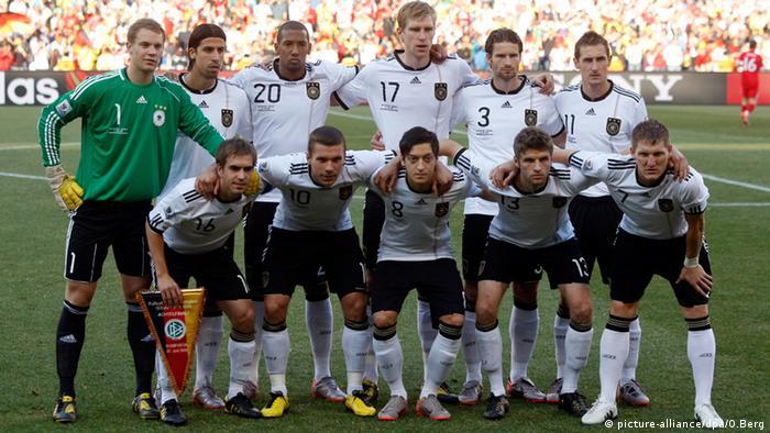 Deutsches Fußballteam Fußballweltmeisterschaft WM 2010 Südafrika